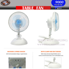 6inch 2 in 1 Fan with Two Speed Table Fan Clip Fan 2in1