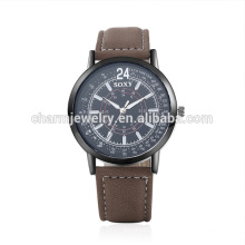 Montre bracelet en cuir populaire à quartz rétro à la mode nouvelle SOXY049
