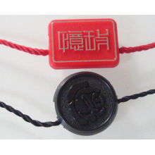 Customized Fashion Plastic Hang Drop / Garment Seal Tag For Apparel / Jeans / Handbags