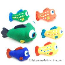 Atacado Decoração Presente Artificial PVC plástico colorido brinquedo peixe para Kid