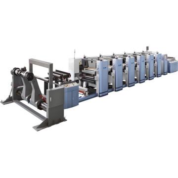 Máquina de impressão flexográfica de alta velocidade Multicolors
