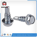 Zinc plated hex head self drilling screw