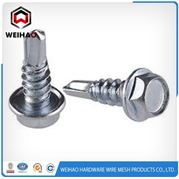 Top Suppliers for Hex Head Self Drilling Screw Zinc plated hex head self drilling screw supply to Guinea Factory