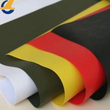White PVC Vinyl Tarps Fabric Black