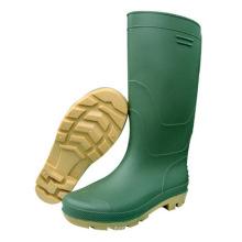 Moda botas de inyección de PVC verde (66711)