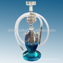 New products clear glass hookah shisha/nargile/water pipe/hubbly bubbly with good quality and led light