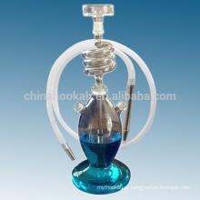 Novos produtos clear narguilé narguilé shisha / nargile / água pipe / hubbly borbulhante com boa qualidade e levou luz