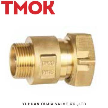 válvula de retención del medidor de agua de hilo interno de latón