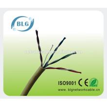 Cable gris del cable de Ethernet de la venta caliente cat5e para el eje