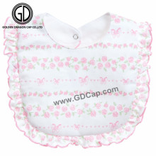 Venta de alta calidad amigable suave 100% algodón babero de bebé de China