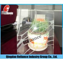 3-6mm Acid Etched Glass / Verre givré / Verre brumeux pour décoration
