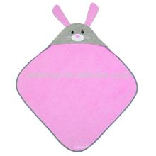 Serviette à capuchon infantile organique - lapin, coton 100% organique, cadeau de douche de bébé pour les filles et les garçons infantiles de Toddle, gardant le bébé chaud