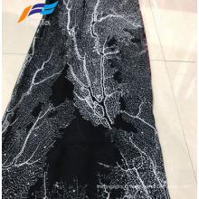 Tissu Abaya en mousseline de soie 100% polyester imprimé pas cher africain