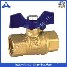 Válvula de bola de gas de hembra hembra de latón con lavado de ácido (YD-1018)