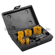 9PCS Hole Saw Set with Plastic Box