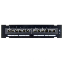 UTP 1U 2U Cat5e Cat6e 12,24,48 port patch panel ,optical fiber patch panel made in china with cheap price