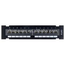 UTP 1U 2U Cat5e Cat6e 12,24,48 панель патч-портов, оптоволоконная патч-панель, изготовленная в Китае с низкой ценой