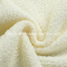 100% poliéster Sherpa Fleece tecido para revestimento de casaco de inverno