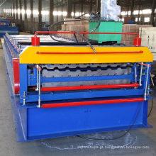 Xinuo auto dupla de metal alumínio passo painel de rolos de cor rolo antigo telha de aço vitrificado fazendo frio rolo formando equipamentos