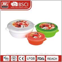 Plastic redondo microondas comida Container(0.8L/1.7L/3L)