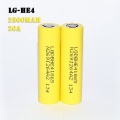 LG HE4 2500mah batterie Rechargeable au lithium-ion