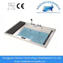 Manufacturing Companies for Square Small Sizes Bathtub Hand Control freestanding jetted tub export to France Exporter