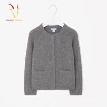 Moda Inverno Crianças 100% Cashmere Boy Cardigan Sweater