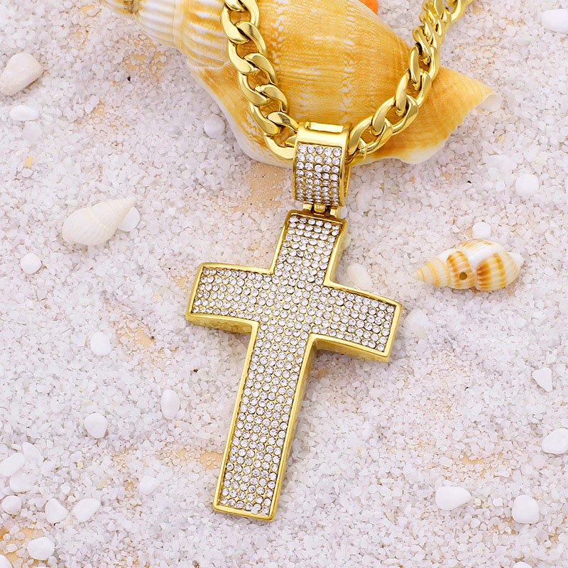 Hip Hop Cross Necklace