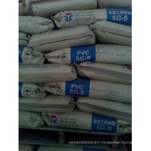 Compétitve prix poudre PVC résine sg5 sg3 sg8