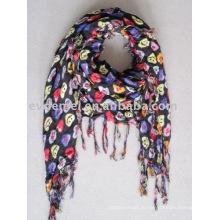 Квадратные печатные дамские тканые вискозные шарфы