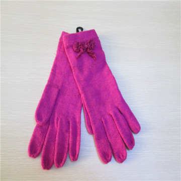 하나의 색상으로 여자의 전체 손가락 니트 장갑