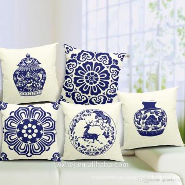 Fabrikverkauf 100% Baumwolle Druck Benutzerdefinierte chinesischen Stil Kissenbezüge