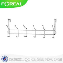 Spectrum Diversified Over The Door 6 Hook Rack Silver