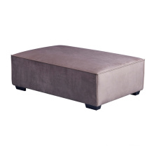 Modern Bedroom Used Grey Tufted Square Footstool Home Furniture Velvet Sofa Bench Stool
