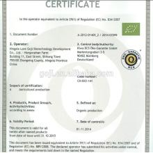 2015 vente chaude organique baie de goji