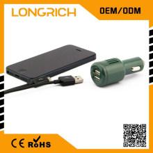 Car essential 5v 1a 12v soquete do carregador de carro, com fusível celular micro usb carregador de carro