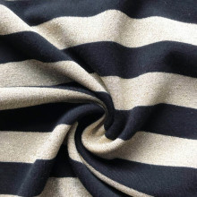 Personlized Products for Diamond Fabric Gold black lurex fashion stripe spandex knitting jersey supply to Poland Manufacturer