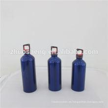 Botella deporte insignia acero inoxidable, botella de agua de deporte doble pared acero inoxidable con tapa de bambú, BPA libre modificado para requisitos particulares