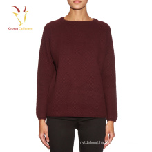 women's crew neck 100% merino wool jumper wholesale