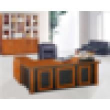 Escritorio de oficina de calidad superior de la melamina de la venta caliente de la fábrica con la forma de L