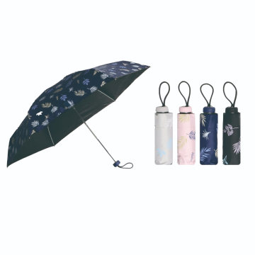 4 Folding Manual Open Anti UV Fashion Printing Umbrella