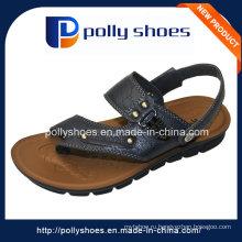 Новая дешевая выполненная на заказ кожаная PU кожаная мужская сандалия оптом