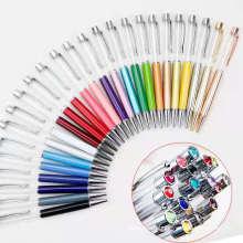 Japan USA Creative DIY Empty Ballpoint Pen Fashion Liquid Floater Empty Glitter Tube Twist Crystal Top Ballpoint Pen