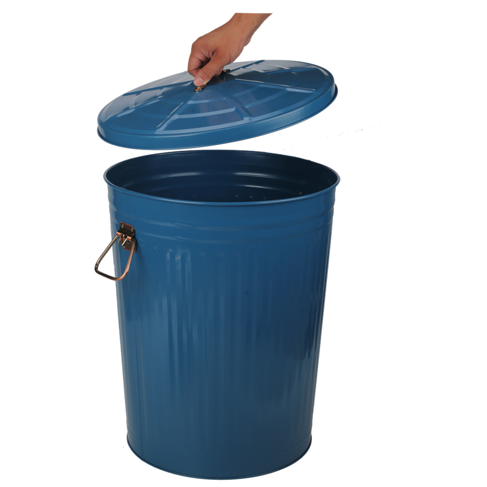 Large Garden Blue Trash Can