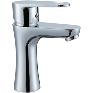 Baskom Chrome Sink Faucet Brass