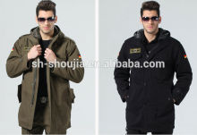 Shanghai Shoujia OEM service parka jacket for men/military/outdoor