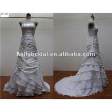La dama de honor más nueva dressKL1078 del vestido de boda de la flor del organza 2012