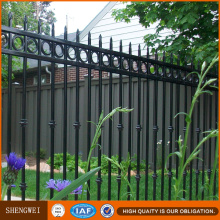 Powder Coated Wrought Iron Pipe Security Garden Fence