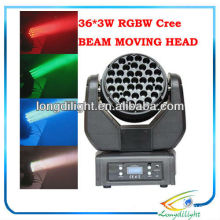 Beam DMX LED Moving Head Light 36 * 3W CREE LEDs