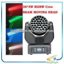Светодиодные световые индикаторы DMX для светодиодов Beam DMX 36 * 3W CREE
